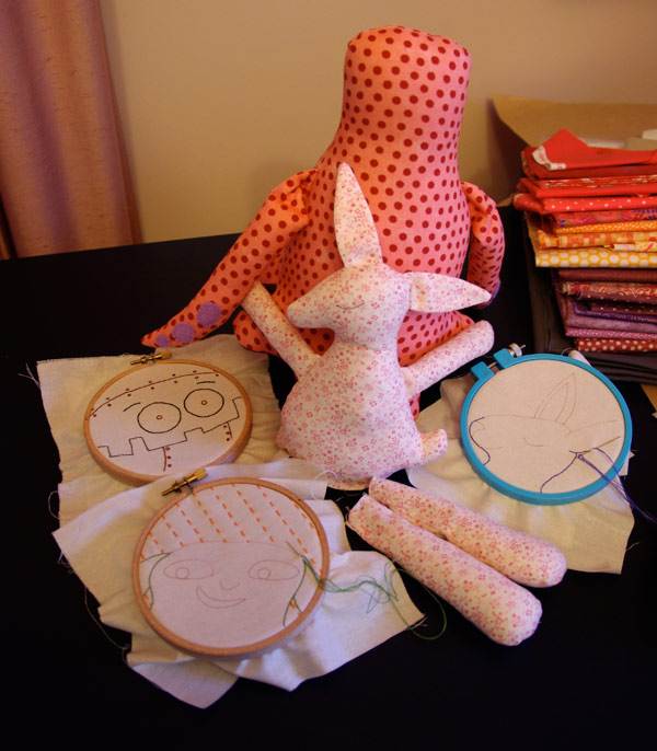 Works in Progress on my sewing table