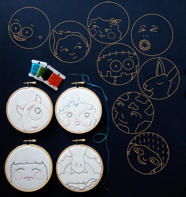 Hoop Faces - Pattern by Matching Pegs