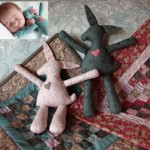 Sleepy Bunny - Soft toy pattern by Matching Pegs