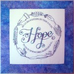 Hope is a thing with feathers - stitchery by Matching Pegs