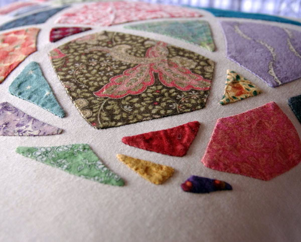 "Close Up of ""Mosaic Rose"" a Matching Pegs Pattern"