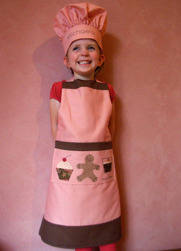 Michaela in Chef's Hat and Apron