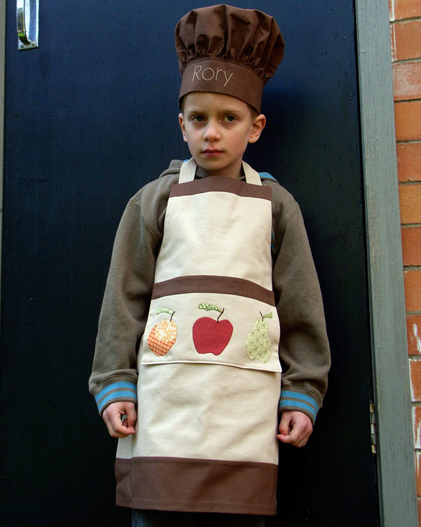 Rory in his hat and apron