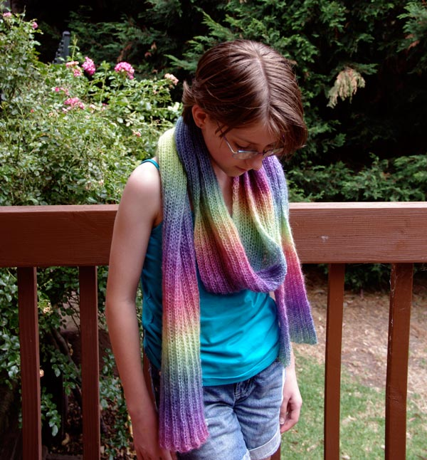 Amelia's Rainbow Scarf (finished in summer)