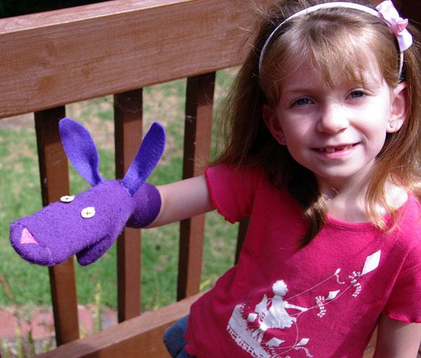 Sock Puppet made by Michaela
