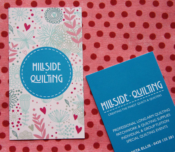 Hillside Quilting Business Cards