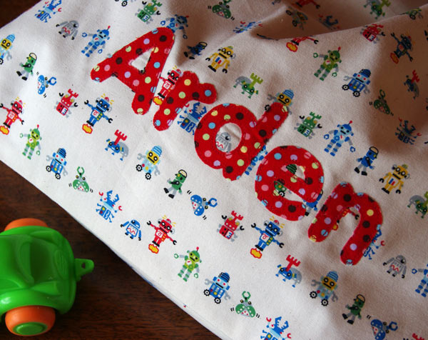 Applique of Arden's name