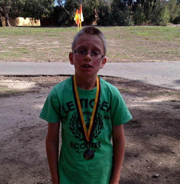 Rory came 2nd in the 3km cross country race at school