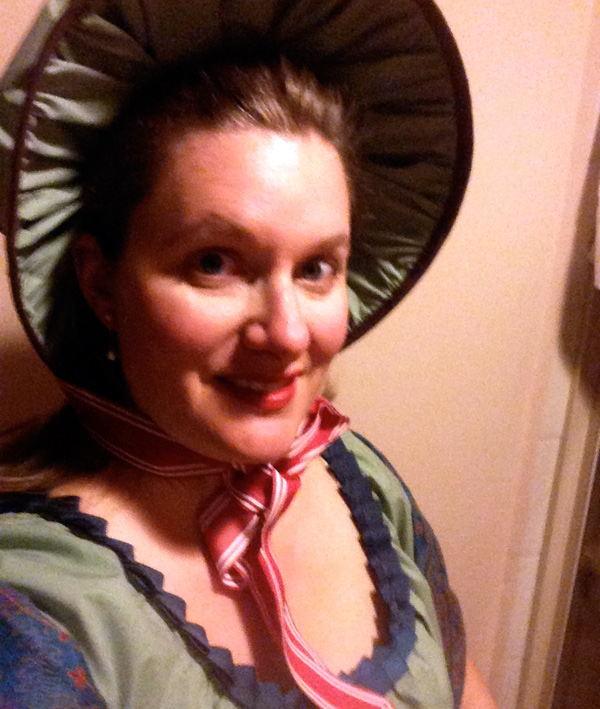 Claire - Night time selfie in the bonnet