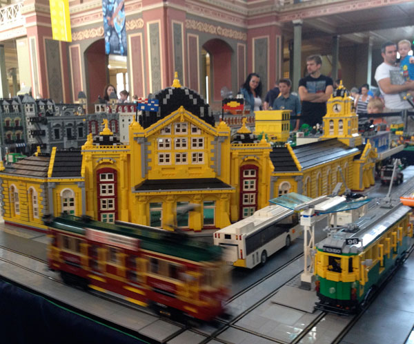 Melbourne in Lego.  Brickvention 2014 at the Royal Exhibition Building in Melbourne.