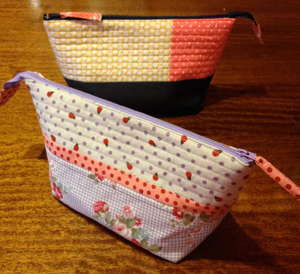 Noodlehead Zipper Pouches, made by Matching Pegs