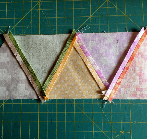 Seam experimentation, pressing the seams open :: Matching Pegs