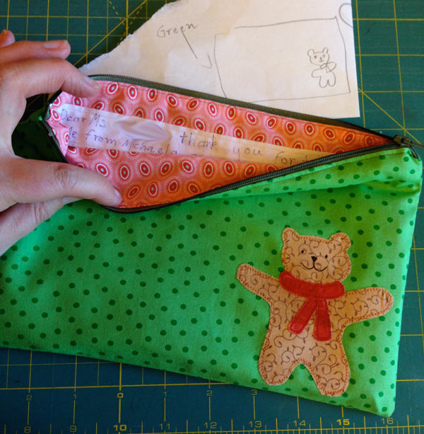 Pencil Case designed by and 8 year old :: Matching Pegs