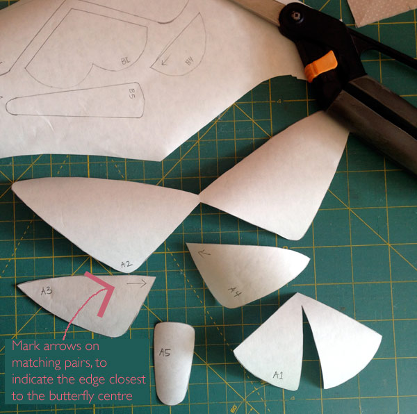 Trace and cut out your freezer paper applique shapes