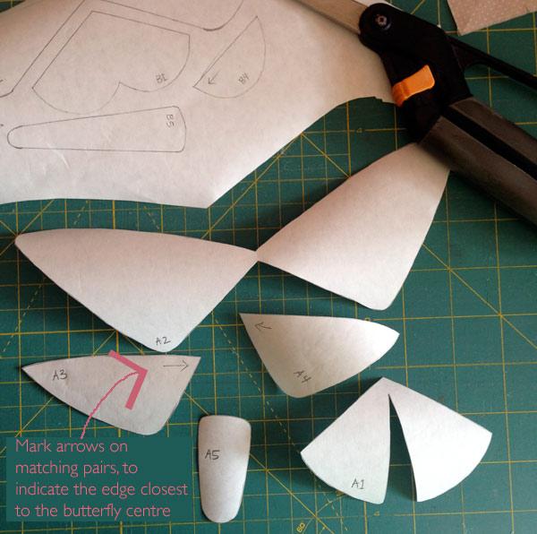 Trace and cut out your freezer paper applique shapes