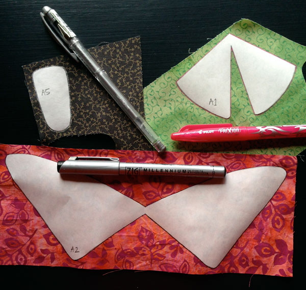 These are the markers that I use for needle-turn applique