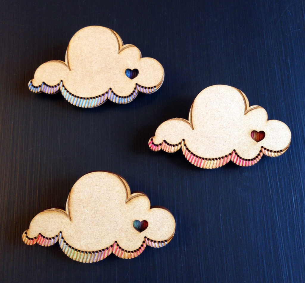 Every Cloud brooch kit by Matching Pegs