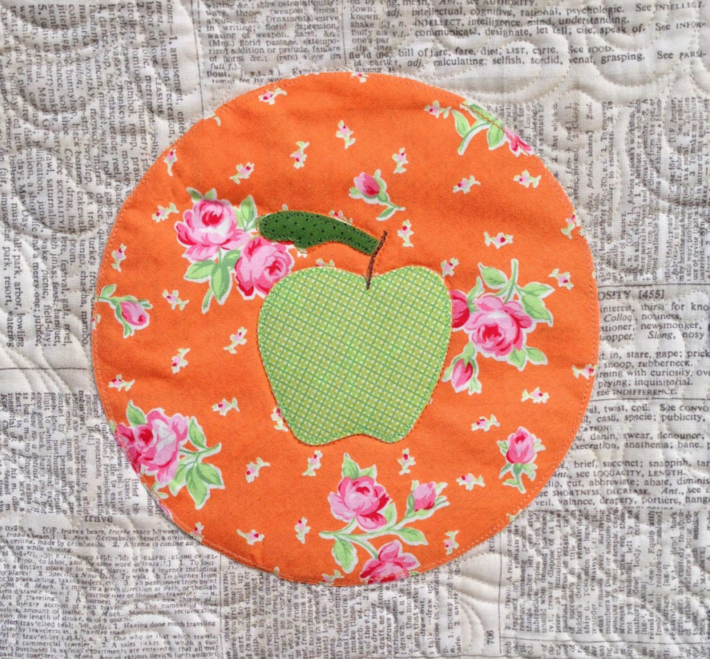 Apple Detail - Picnic Feast Quilt - Pattern by Matching Pegs