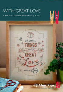 CG-017 With Great Love Pattern Cover