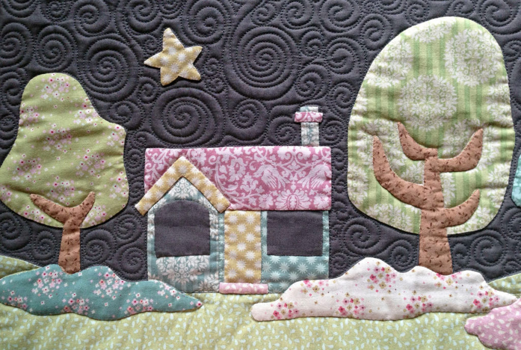 Close Up House detail - Hush Quilt Cover - Pattern by Matching Pegs