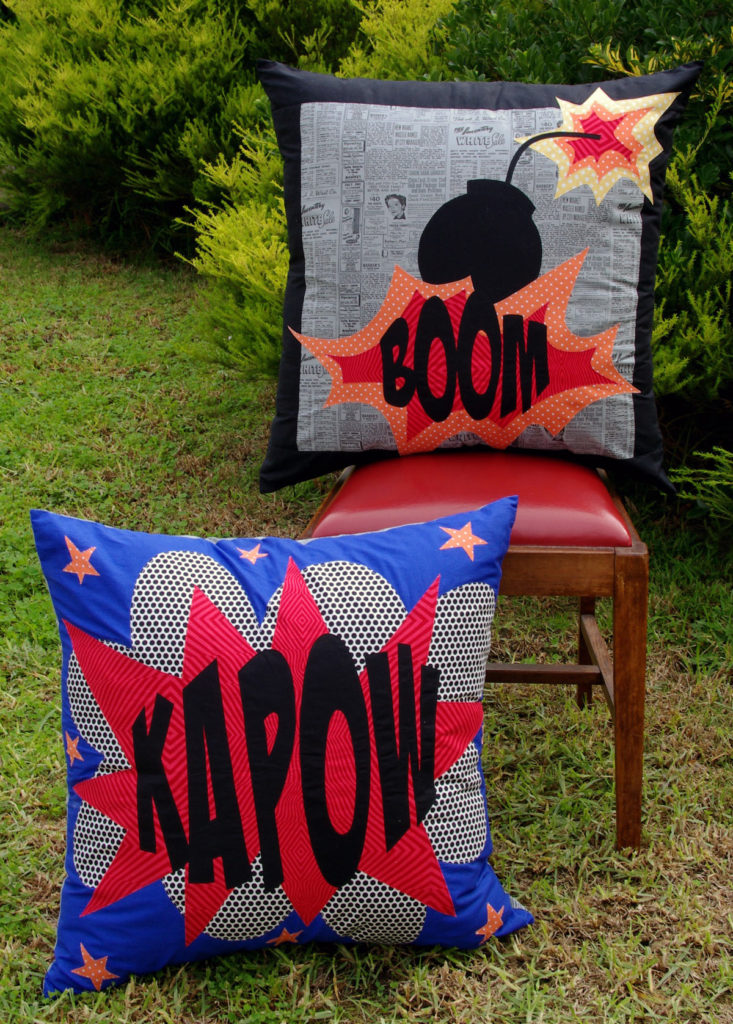 Comic Cushions - Pattern by Matching Pegs
