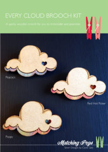 Every Cloud brooch kit Cover by Matching Pegs