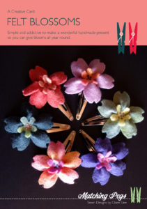 Felt blossoms hair clip - Creative Card by Matching Pegs