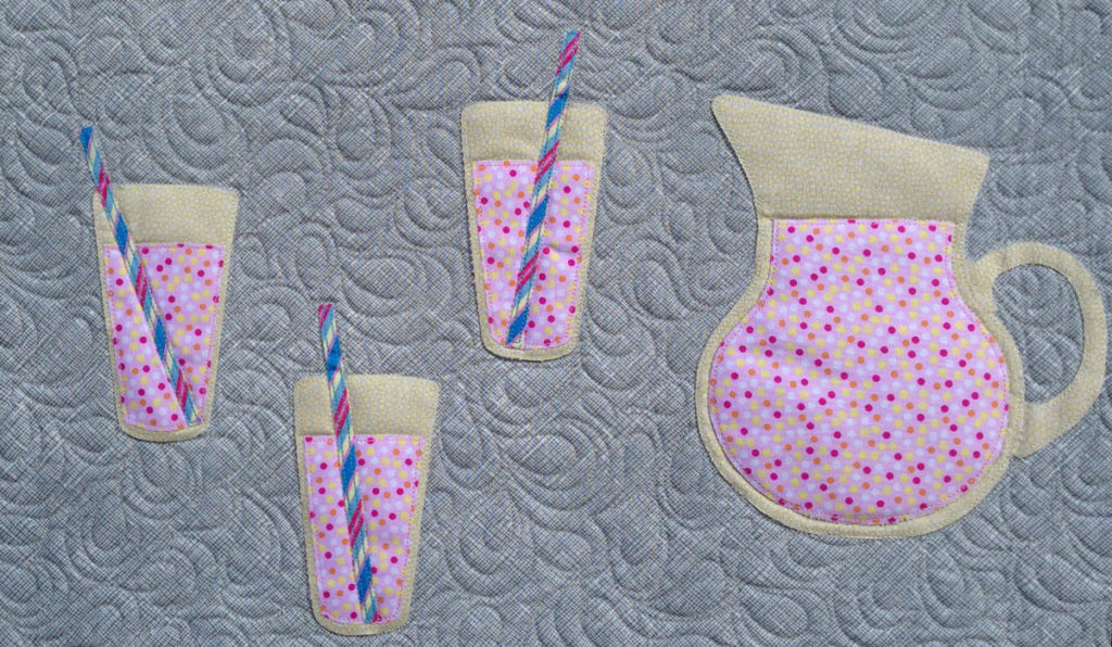 Fizzy Drink Detail - Picnic Feast Quilt - Pattern by Matching Pegs