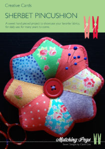 Sherbet Pincushion Cover - Creative Card by Matching Pegs