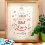 With Great Love Embroidery - CG017 - Pattern by Matching pegs